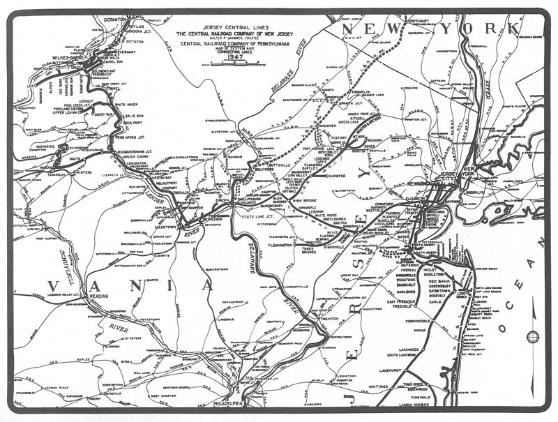 Alphabet Route  Central Railroad Of New Jersey